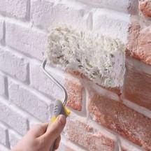 peindre un mur en pierre avec la peinture fa ade m taltop peinture. Black Bedroom Furniture Sets. Home Design Ideas