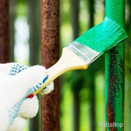 Peinture fer rouill m taltop peinture - Peinture aspect rouille ...