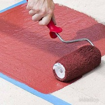 Peindre un sol avec une peinture sol b ton ou ciment - Peinture pour mur de garage ...